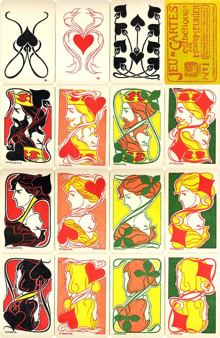 Jeu de Cartes Estétique. (Playing cards).