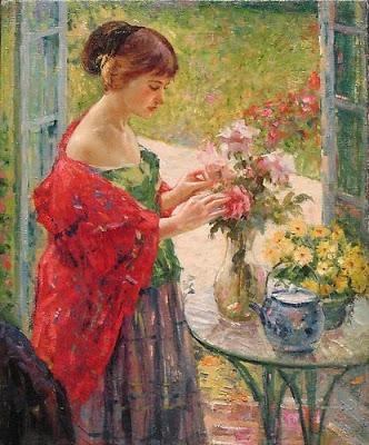 """Arranging Flowers"""". 1910."