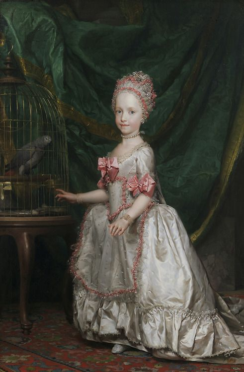 Archduchess Maria Teresa of Austria (and her pet bird) 1771.