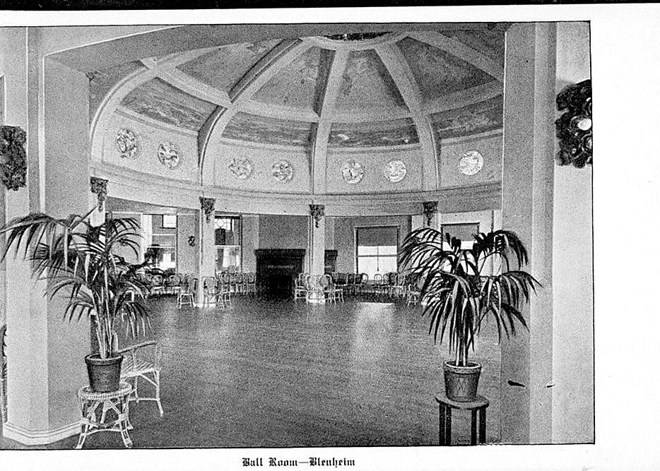 Ballroom. Marlborough-Bleinheim Hotel, Atlantic City, New Jersey. Undated image.