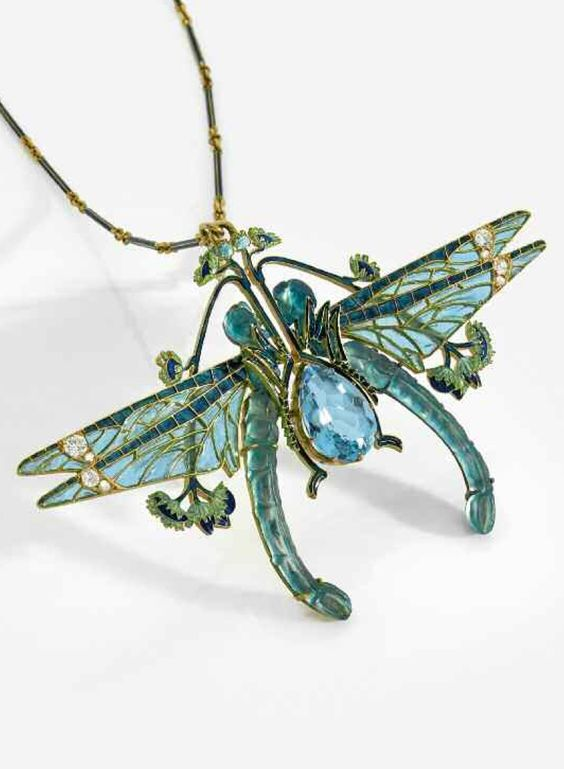 Dragonfly pendant. ca. 1900.