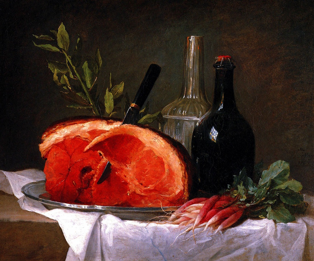 Still life with a ham. 1767.