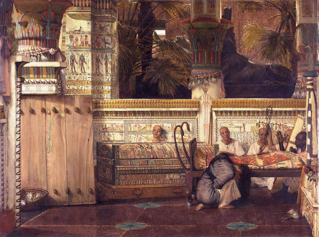 """The Egyptian widow."" 1872."