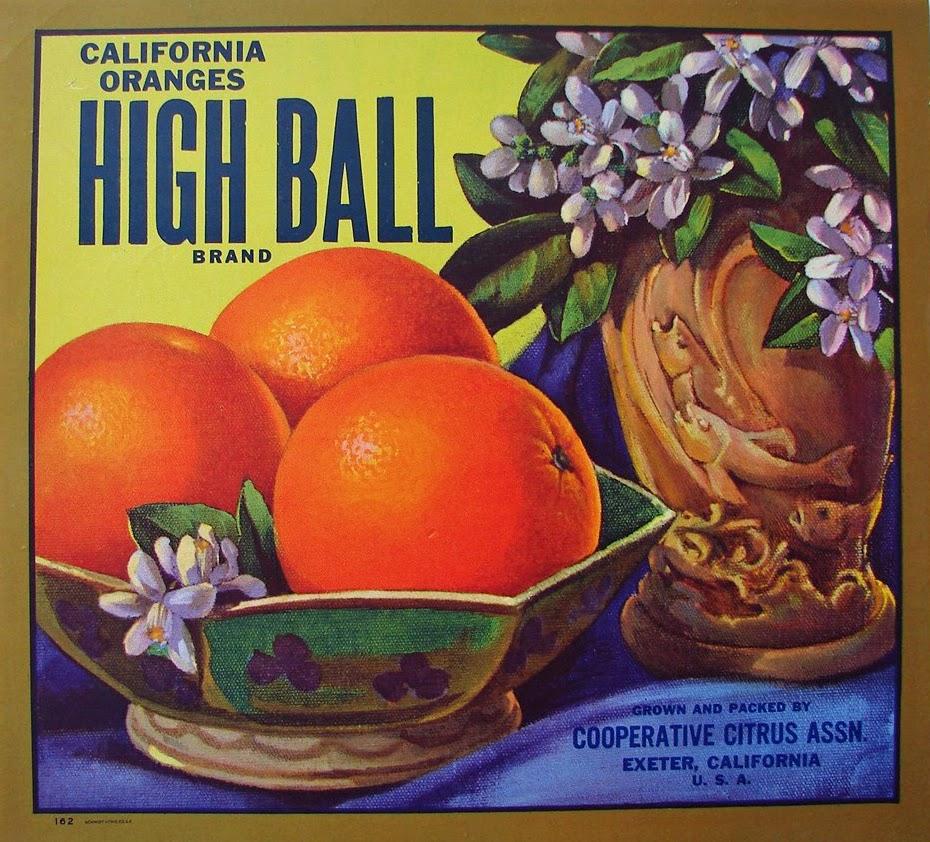 Oranges. High Ball Brand.