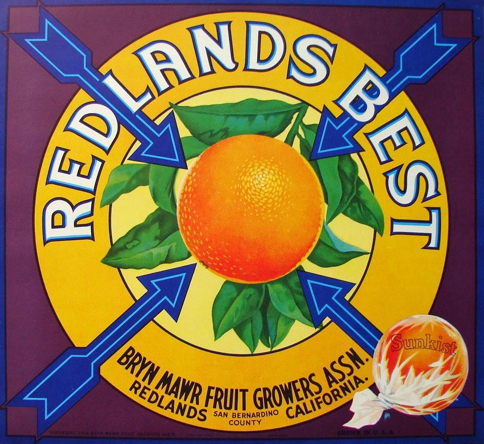 Redlands best oranges. 1930's.