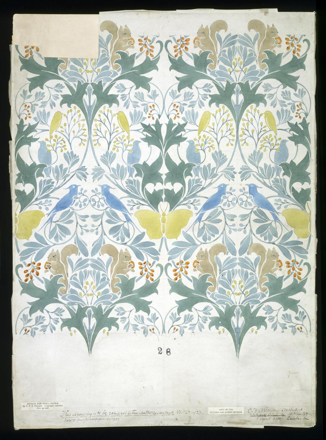 Wallpaper design. April, 1909.