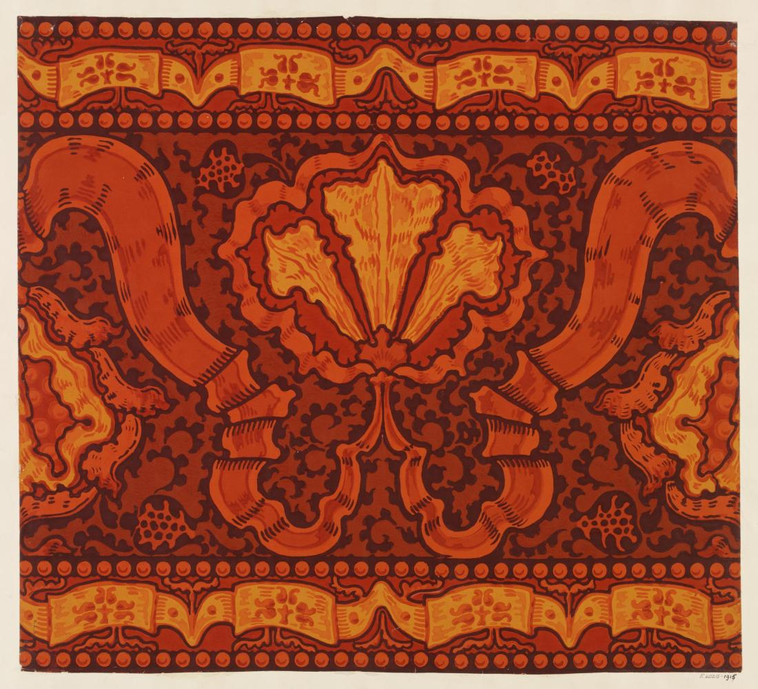 """Iris and Pomegranate."" Wallpaper frieze. 1891."