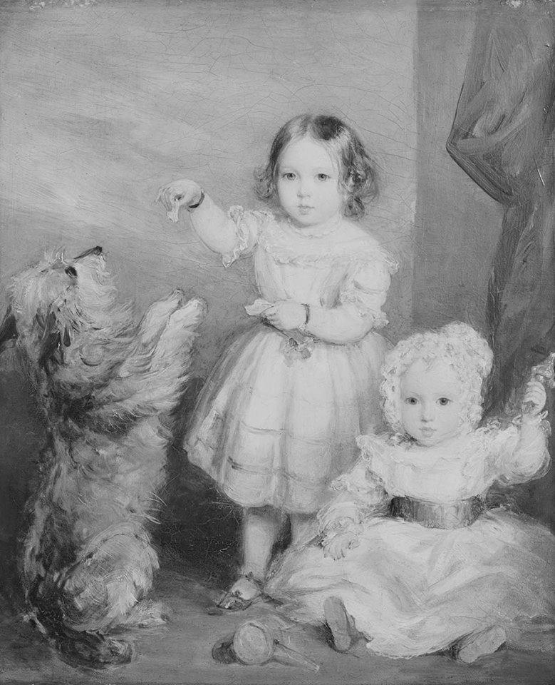 """""""Victoria Princess Royal and Albert Prince of Wales  1842."""
