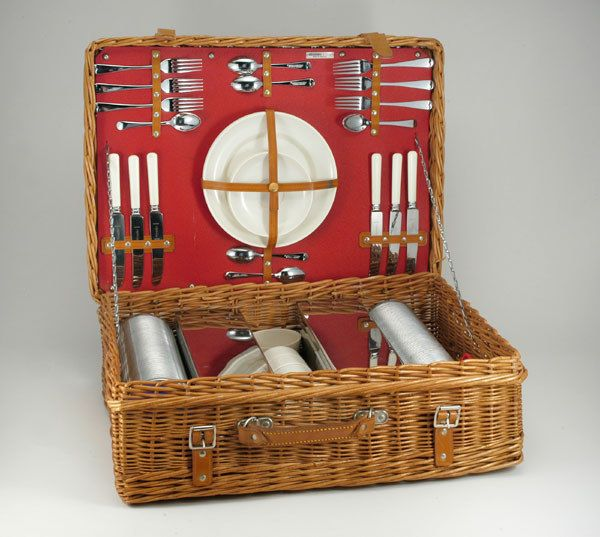 Abercrombie and Fitch picnic basket.