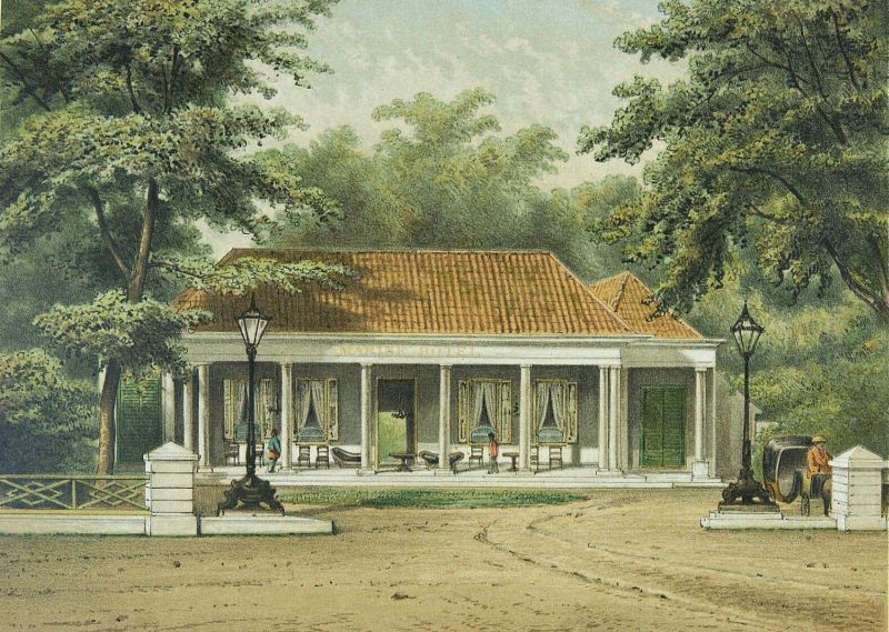 Marine Hotel. Batavia, Dutch East Indies. 1881-1889.