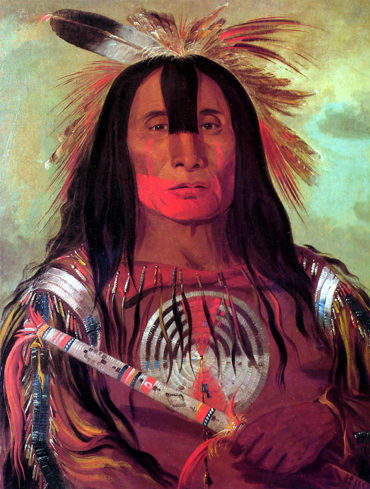 """Buffalo Bull's Back Fat (Stu-mick-o-súcks) Head Chief of the Blood Tribe (Blackfoot)."" 1832."