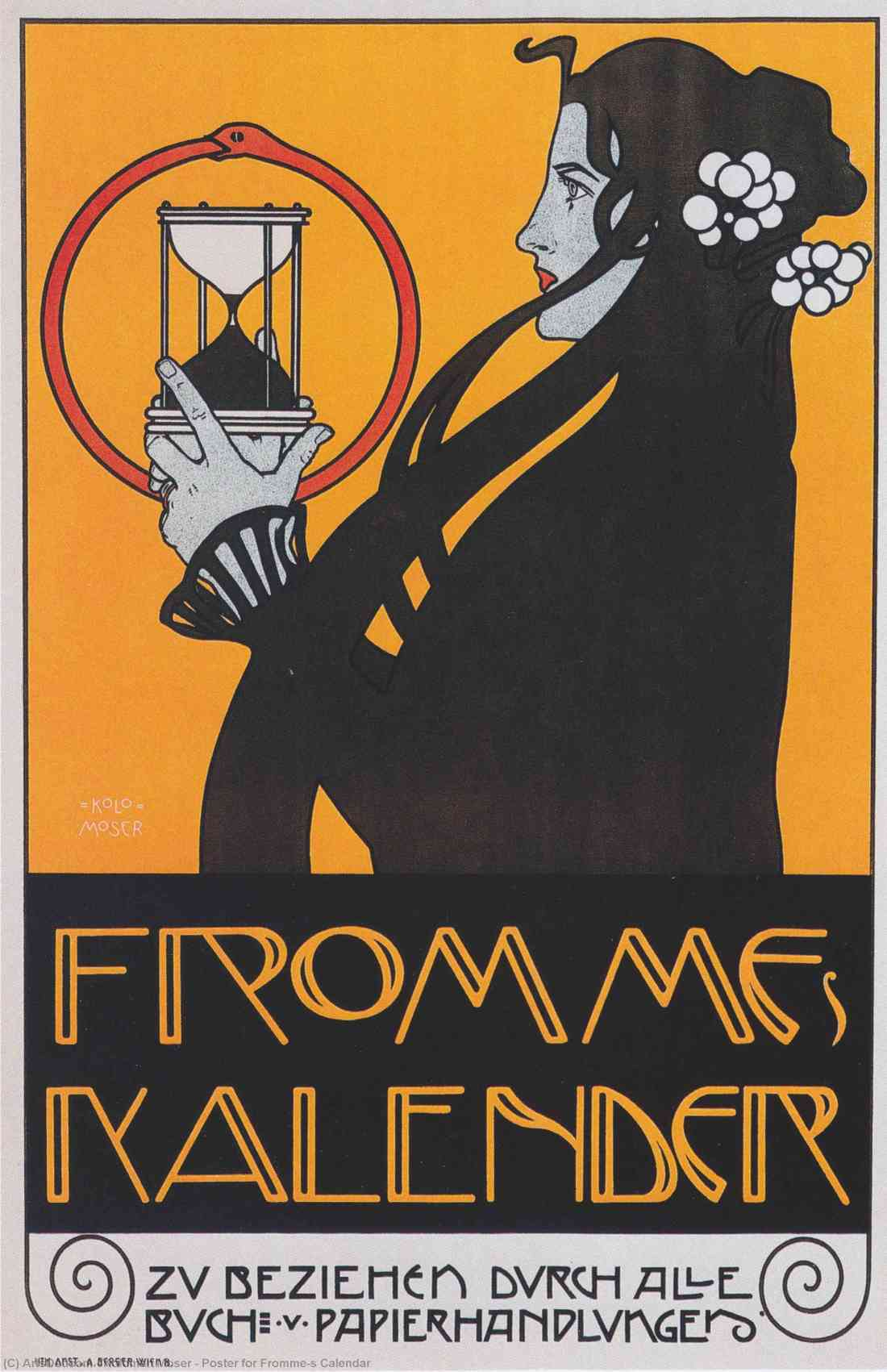 "Artwork for the calendar ""de Fromme."" 1899."