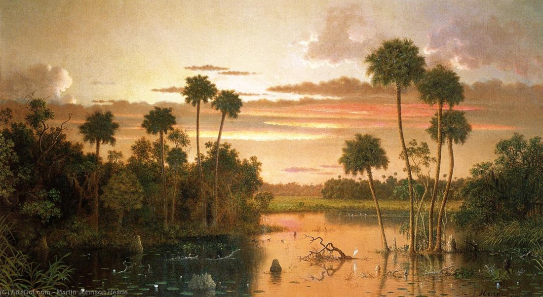 """The Great Florida Sunset."" 1887."