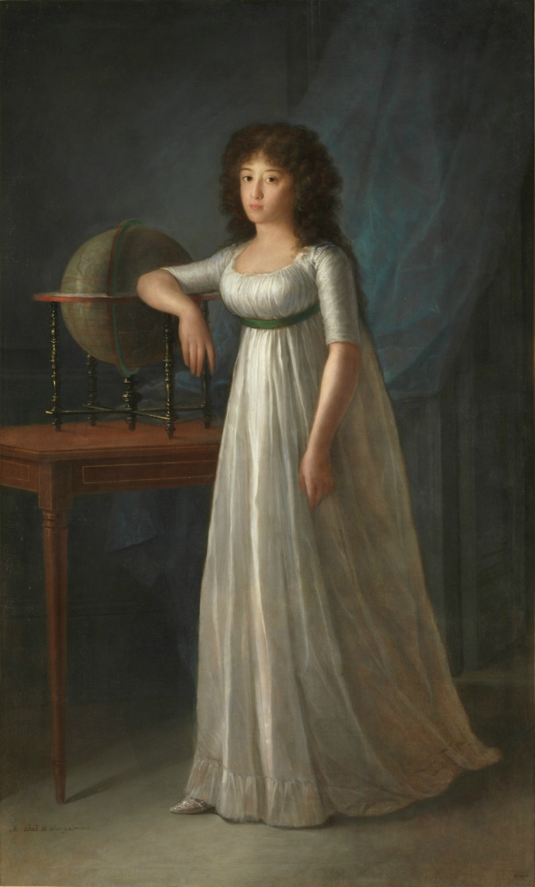 Joaquina Téllez-Girón, daugther of the 9th Duke and Duchess of Osuna, 1798.