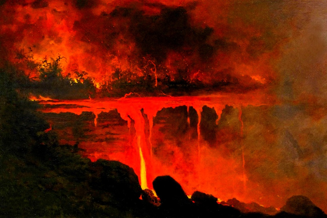 Untitled (Dripping Lava). 1886.