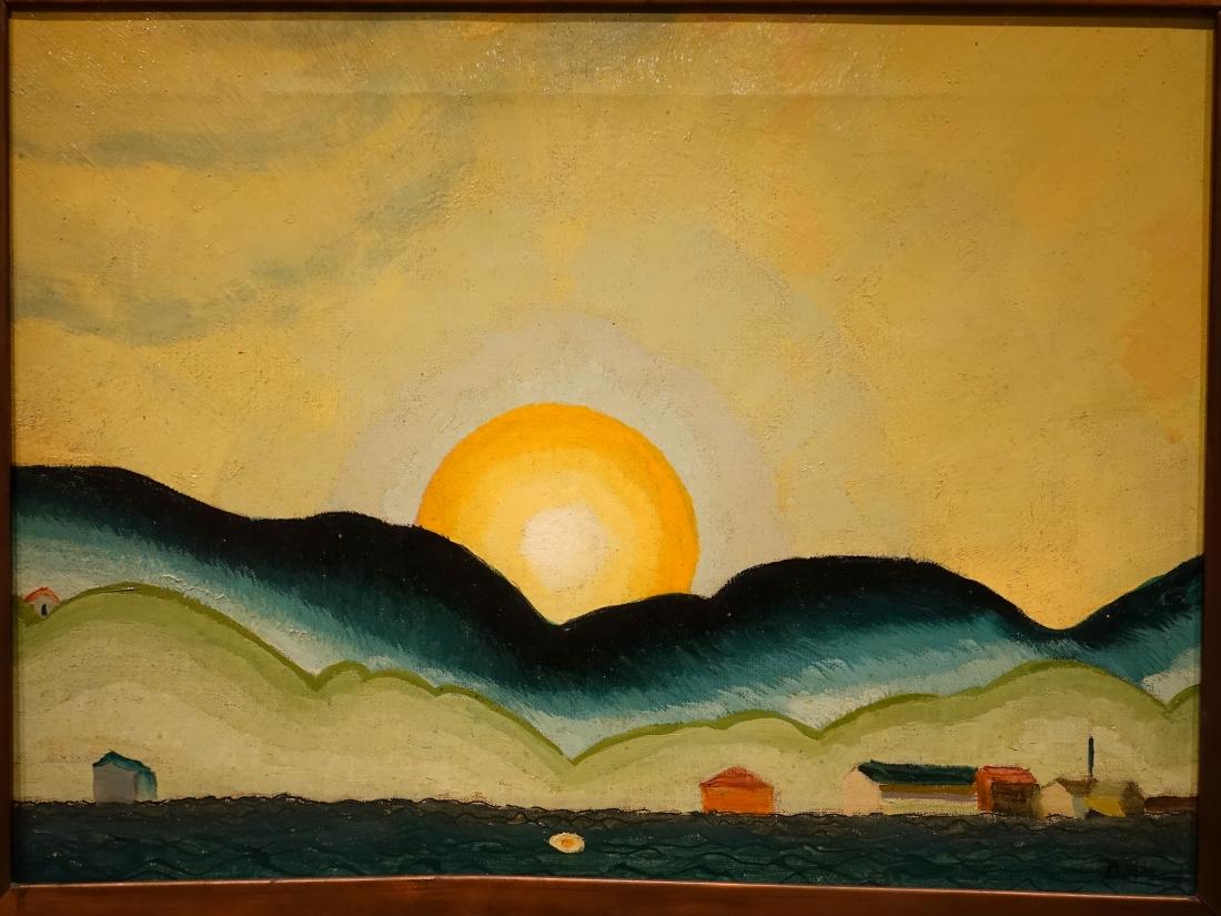 """Sunrise, Northport Harbor."" 1929."