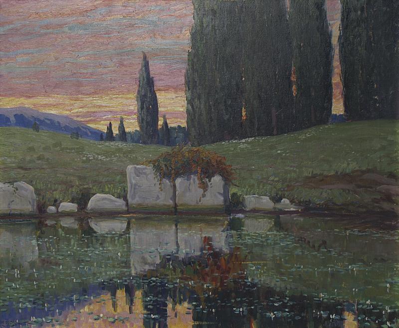 """Sunset with Pond."" Undated."