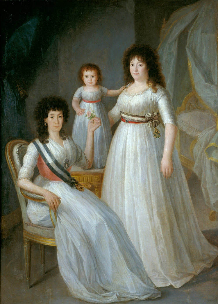 The Duquesa de Osuna, a young woman and child, by Agustín Esteve, circa 1796-97. httpgodsandfoolishgrandeur.blogspot.com