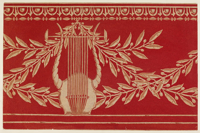 """Lyre and Garland."" Wallpaper frieze. 1911."