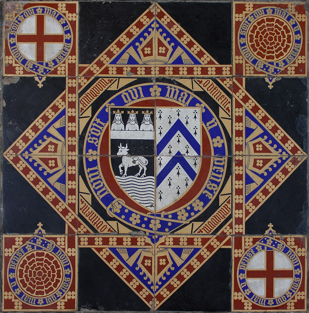 Floor tile. Undated. All Saints Church, Leigh.