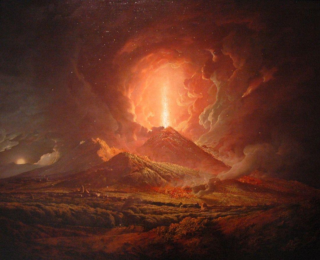 """""""Vesuvius from Portici."""" 1774-76."""