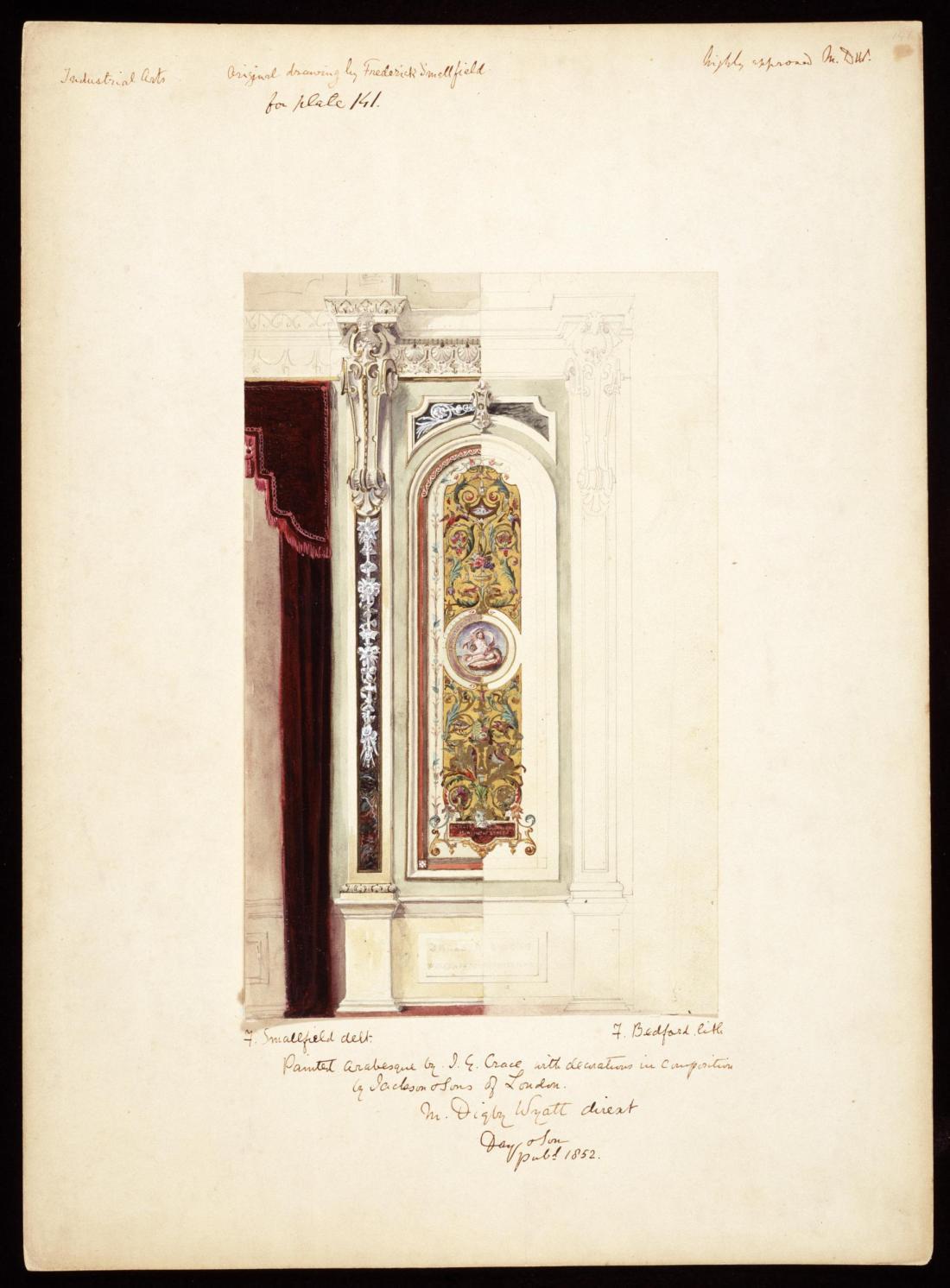 Interior detail for the 6th Duke of Devonshire.  1851.