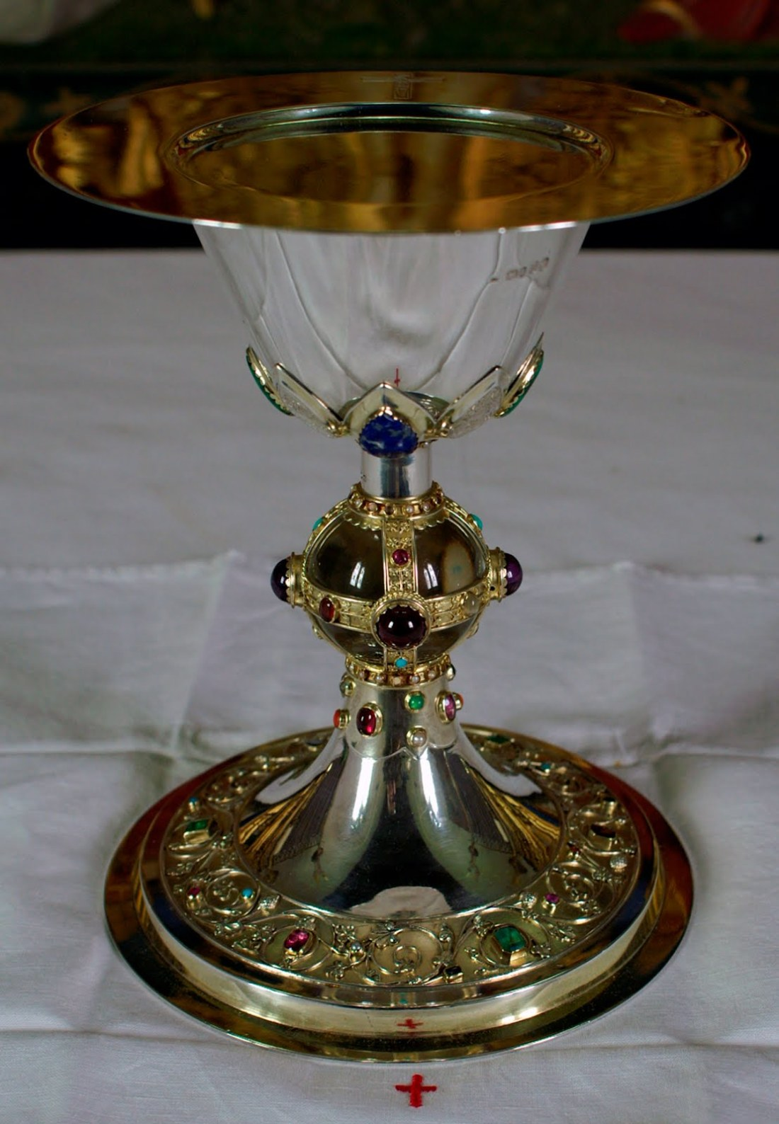 Chalice and paten. ca. 1867-1873.