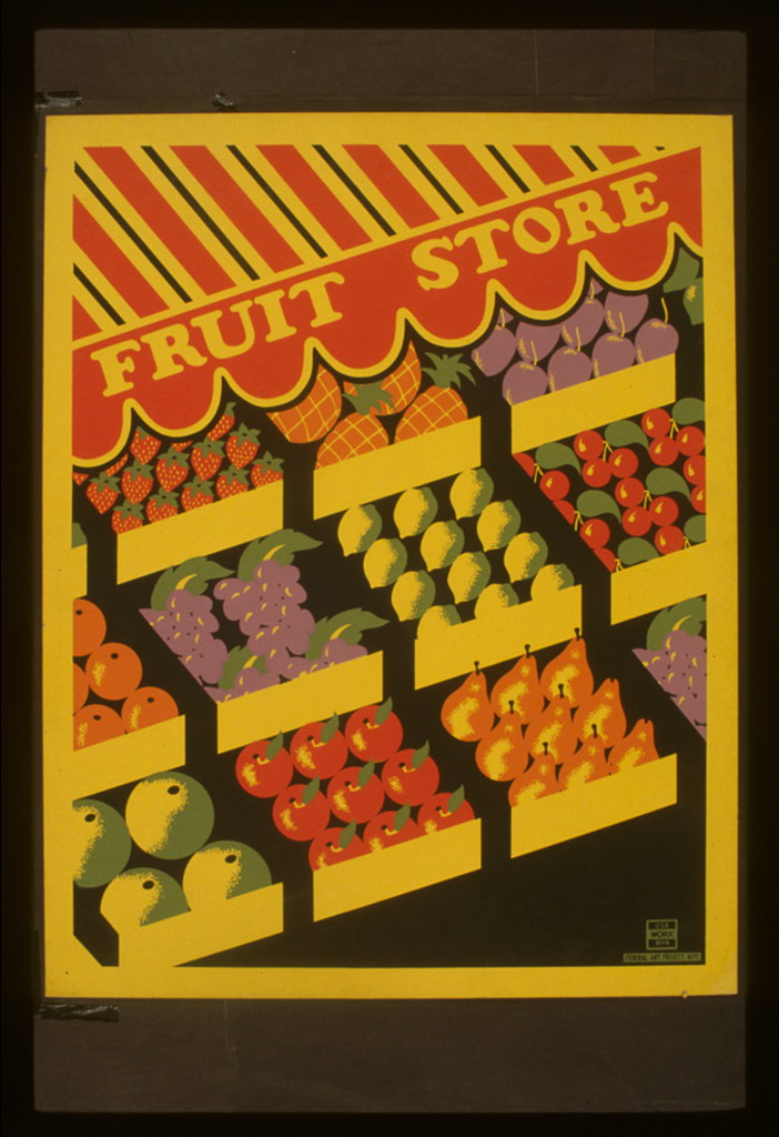 Fruit store. 1941.