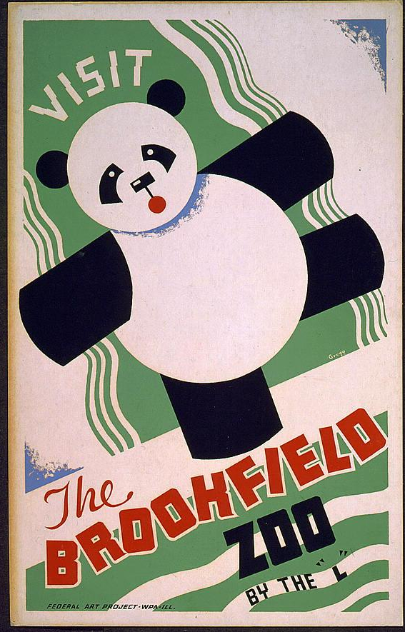 "Visit the Brookfield Zoo by the ""L"". 1936-38."