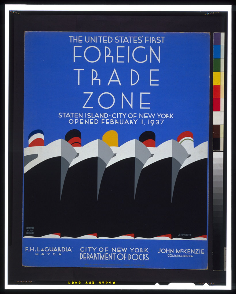 """The United States first foreign trade zone."" 1937."