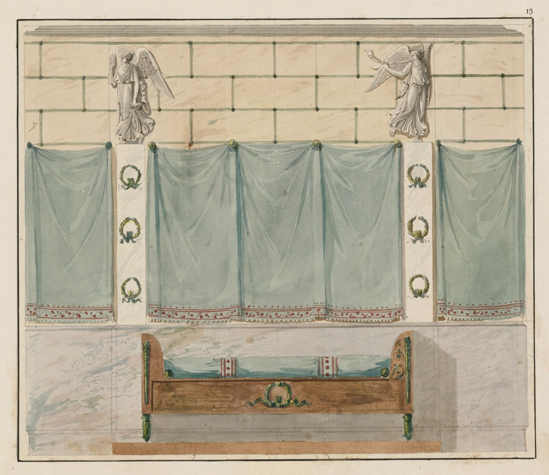 Folio 4 of an album of 26 drawings. ca. 1798-1804.
