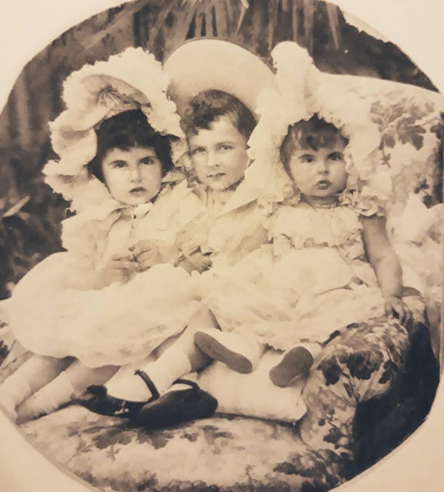 The three children of Prince Victor Sergeyevich Kotchoubey. ca. 1900.