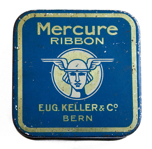 """Mercure"" ribbon. Eugene Keller and Company, Bern."