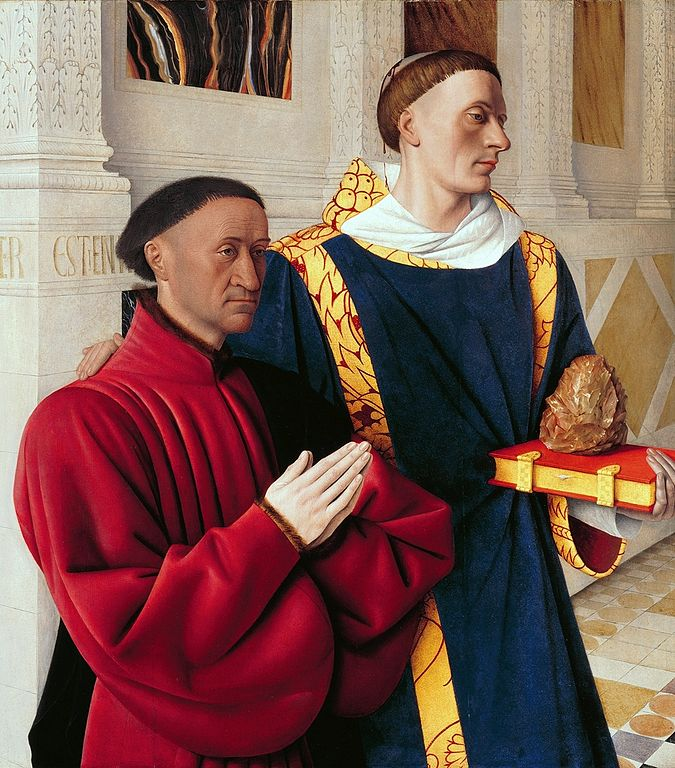 """Étienne Chevalier and Saint Stephen."" 1452-58."