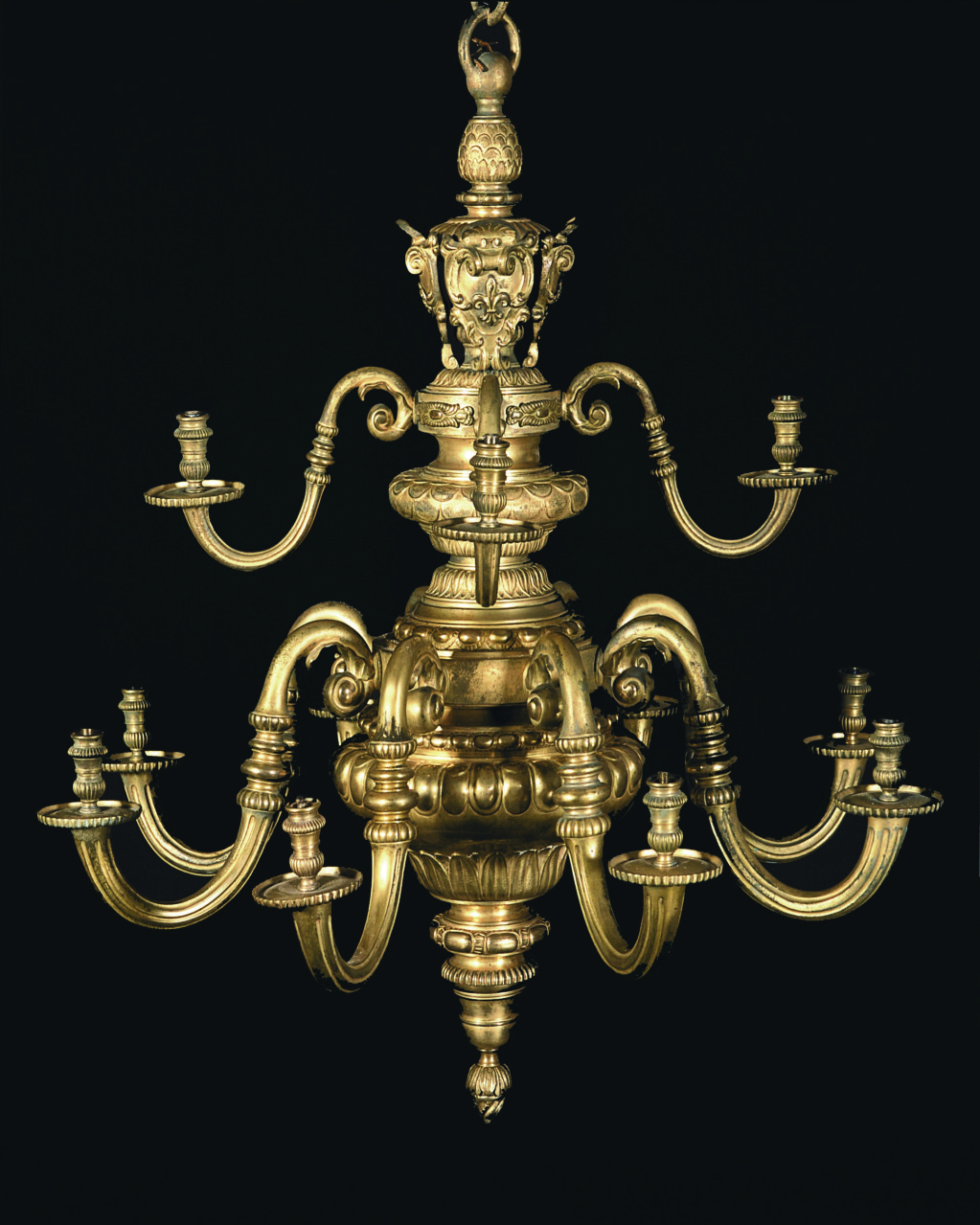 Chandelier. Gilt bronze. 1895-ca. 1920.
