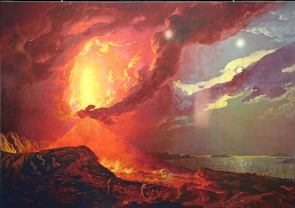 """""""Vesuvius in Eruption, with a View over the Islands in the Bay of Naples."""" 18th c."""