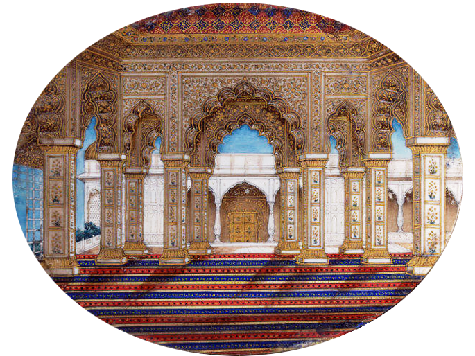 Interior of the Diwan-i Khas, Delhi. ca. 1850.