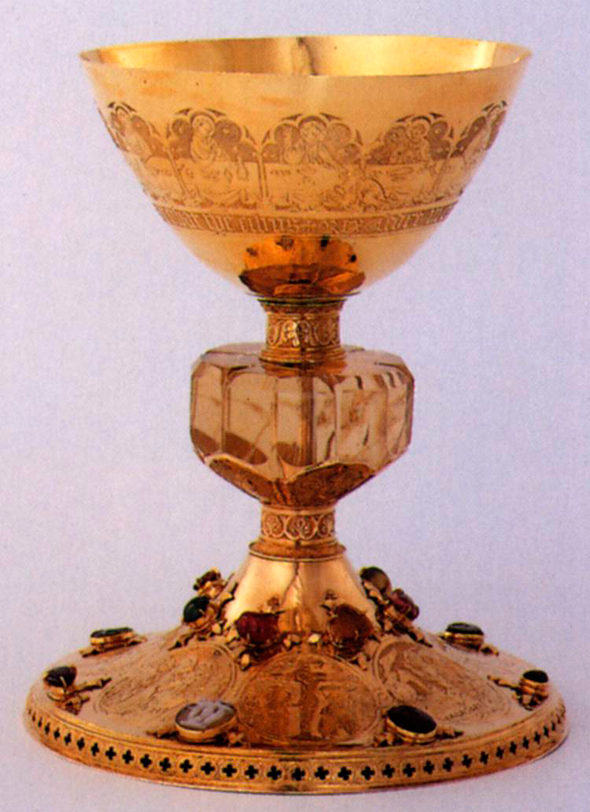 Saint Bernard chalice. 1390's. German. Gold.