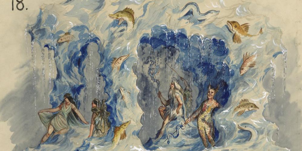 """Ahtola-water castle - Ahto, god of ocean"" float. 1893."