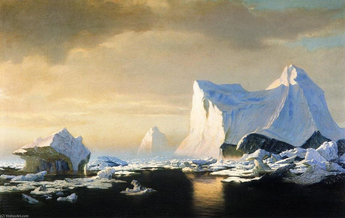 """Icebergs in the Arctic."" 1882."