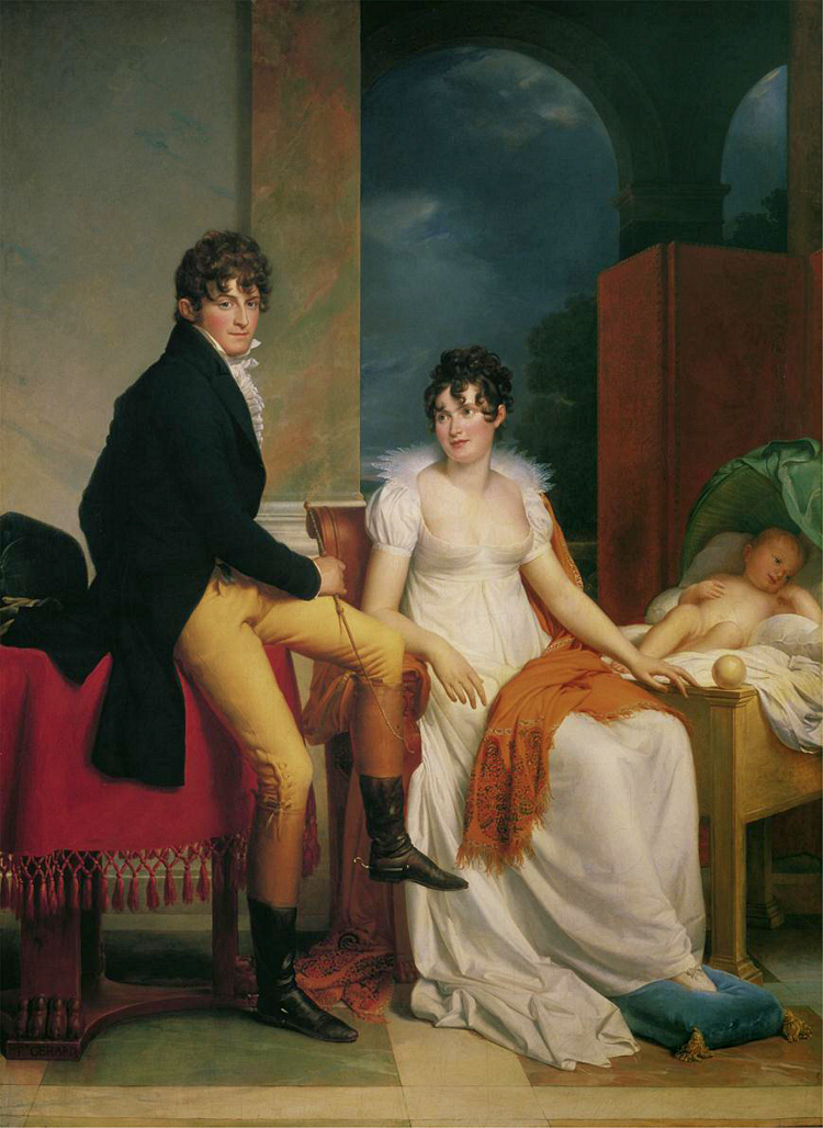 Moritz Christian, Reichsgraf von Fries, his wife Maria Theresia Josepha, and their son Moritz. 1805.