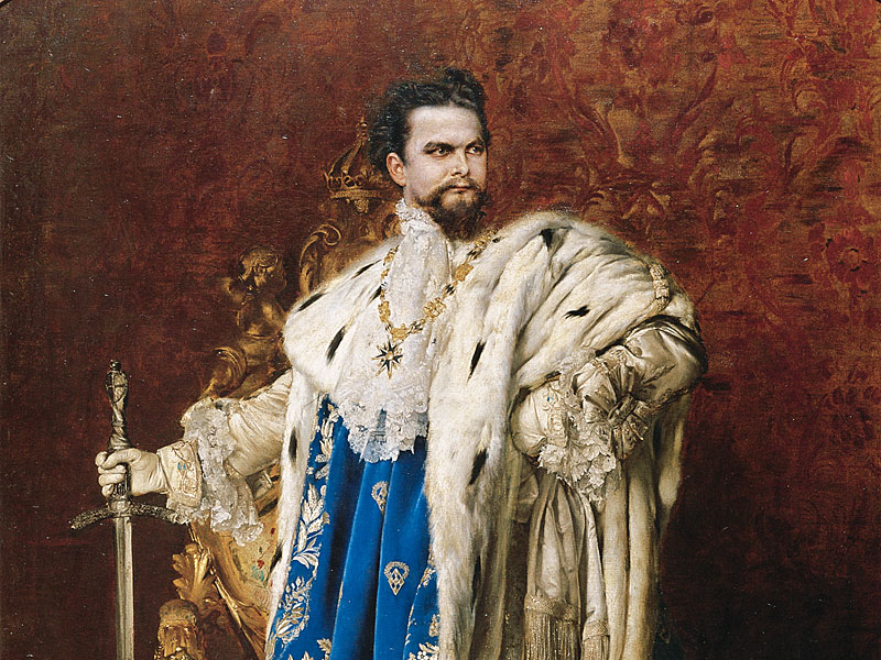 """Ludwig II of Bavaria as the Grand Master of the Order of the Knights of Saint George"" (detail). 1887."