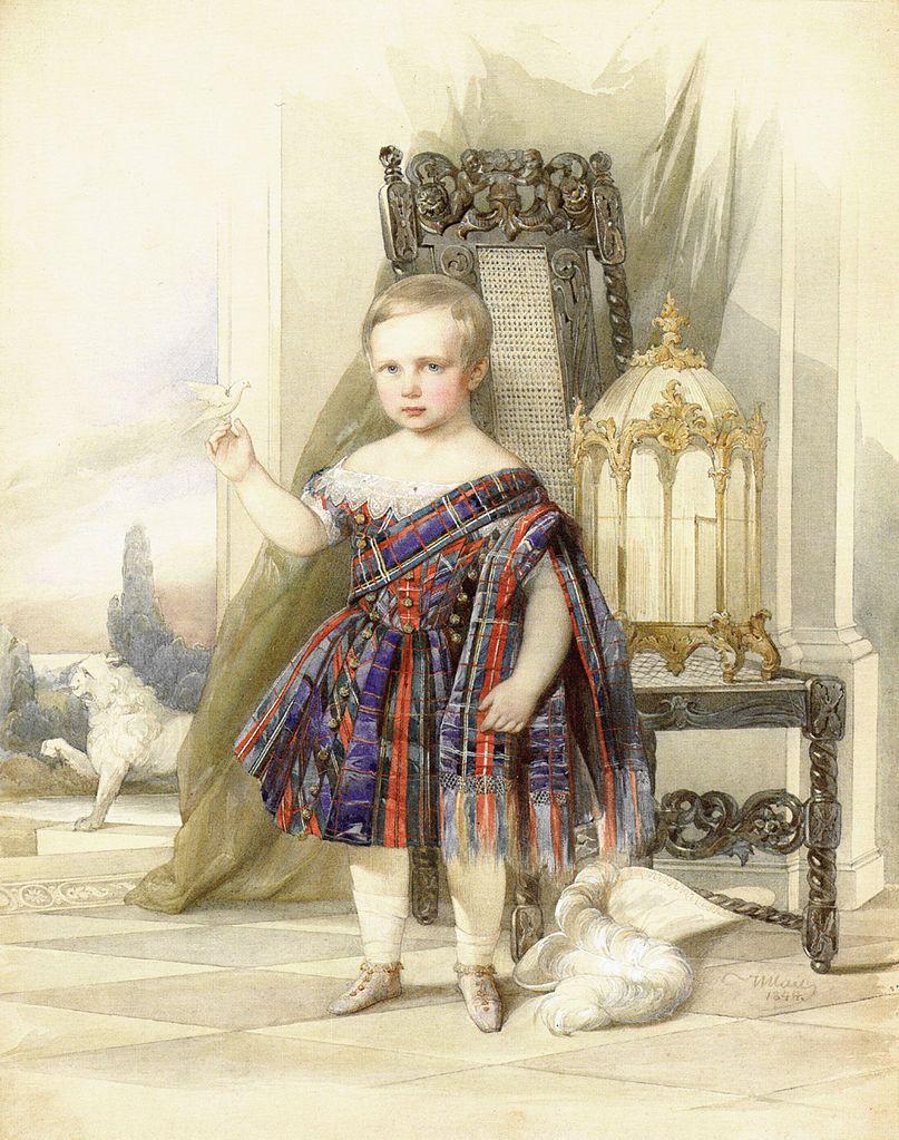 Portrait of Nicholas Maximilianovich, Duke of Leuchtenberg, as a Child. 1844.