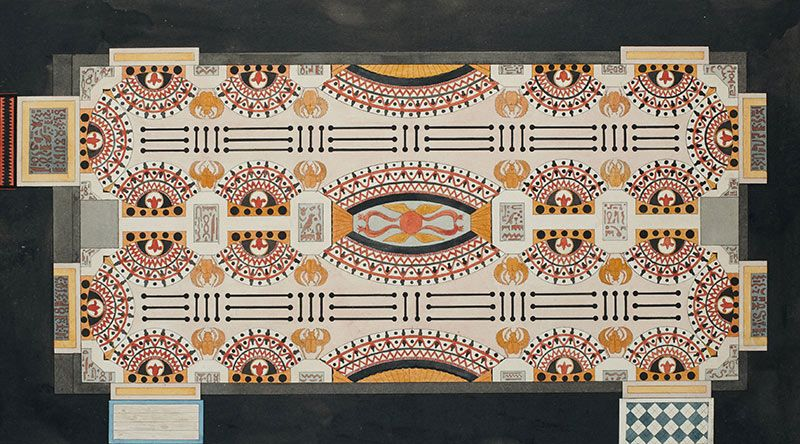 Design for the pavement of the Egyptian room of the Country House of the Escorial, Madrid. 1786.
