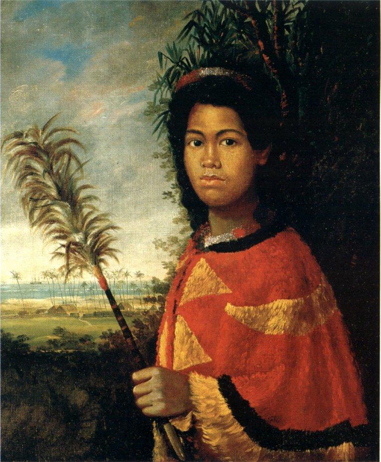 Nāhiʻenaʻena as a child. 1825.