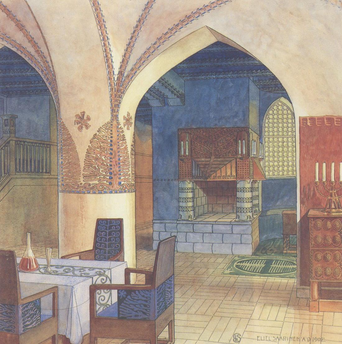 Dining room, Hvittorp. 1902.