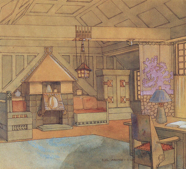 Interior for an unknown project. 1901.