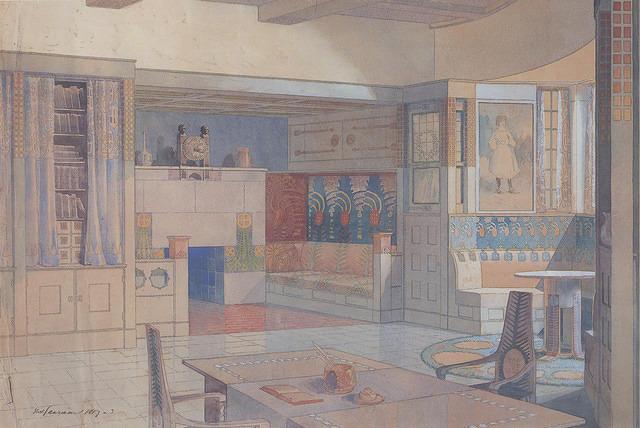 Library, Suur Merijoki house. 1903.