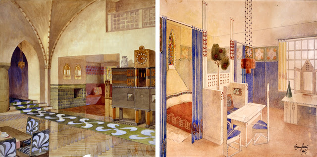 Interior. Suur-Merijoki house. 1902-04.