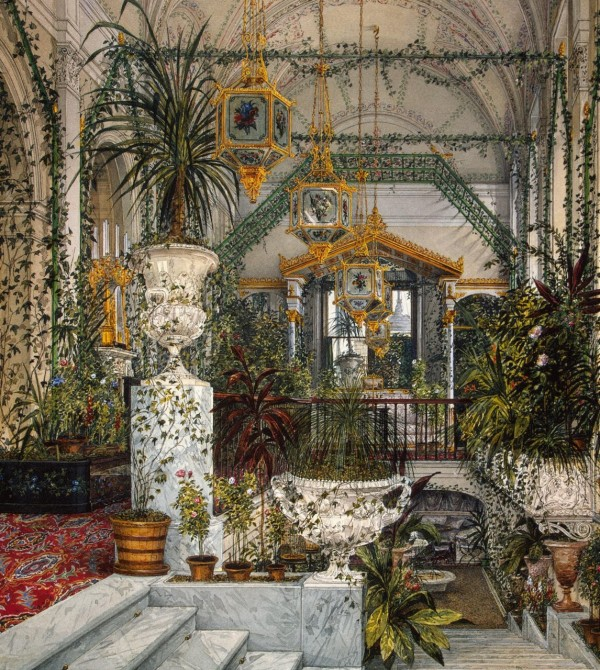 """Winter Garden of Empress Alexandra Fyodorovna."" 1860's."